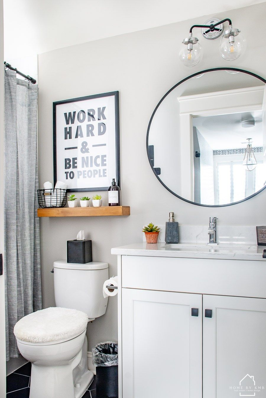 Modern Office Bathroom Reveal Home By Kmb In 2020 White