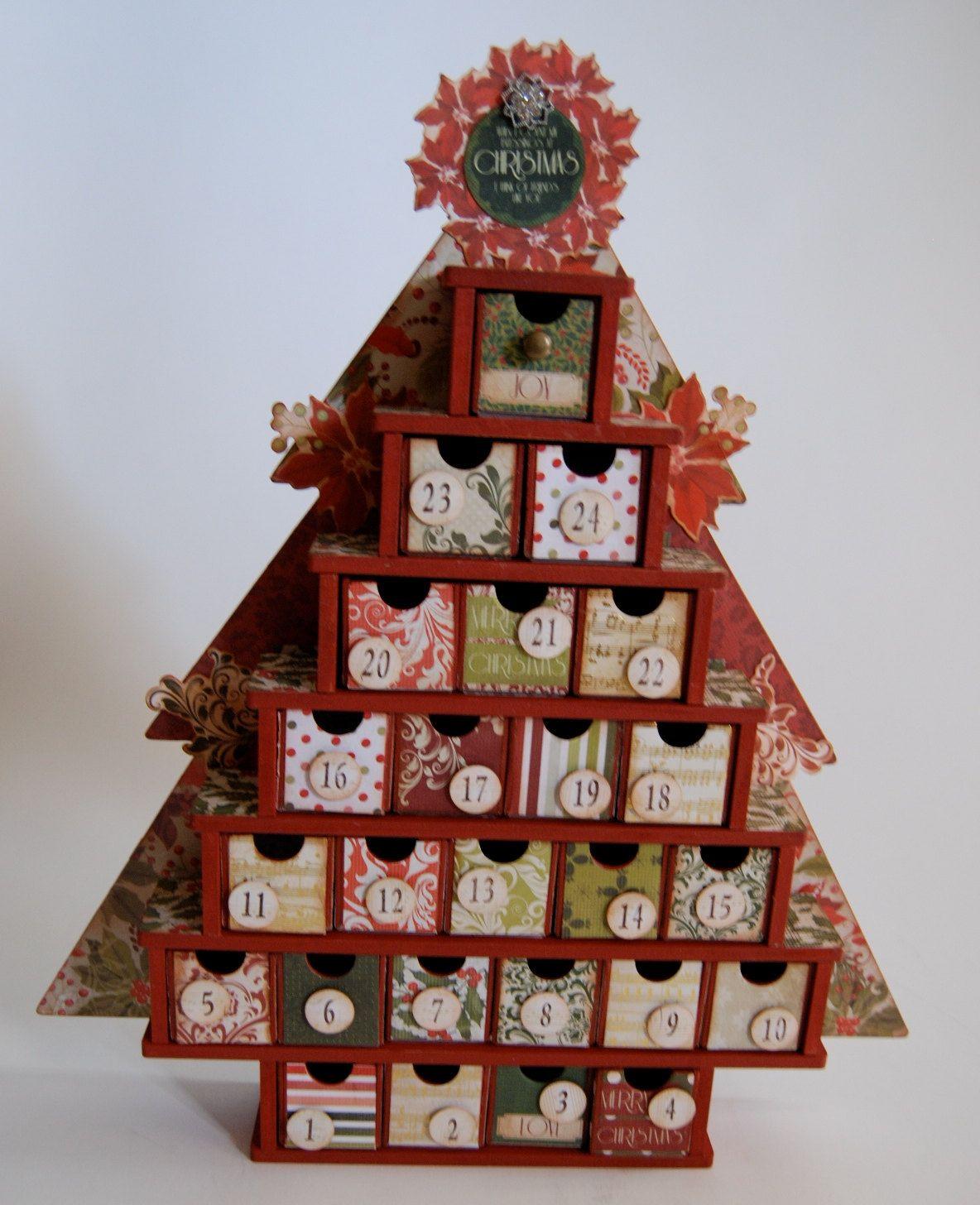 Countdown Advent Calendar Christmas Tree By