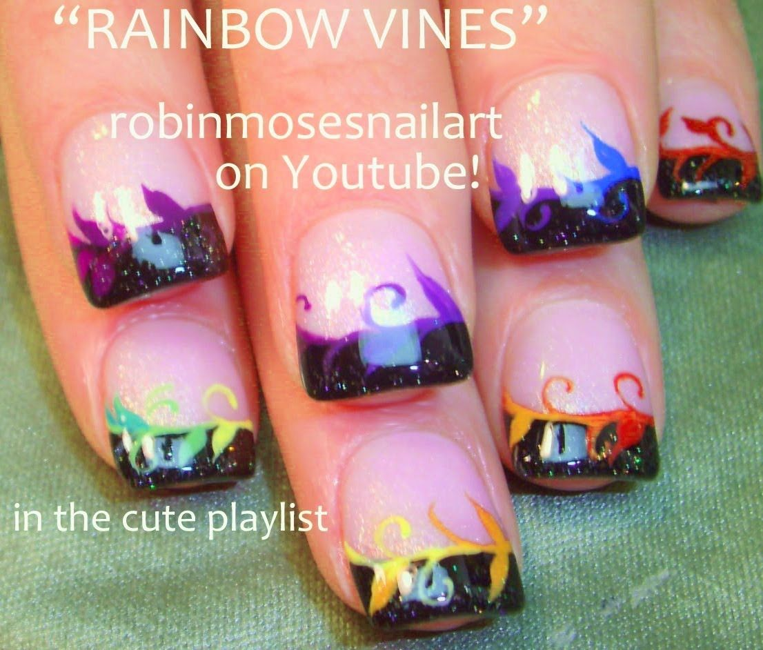 Easy nail art for short nails diy rainbow vine tips designs easy nail art for short nails diy rainbow vine tips designs prinsesfo Choice Image