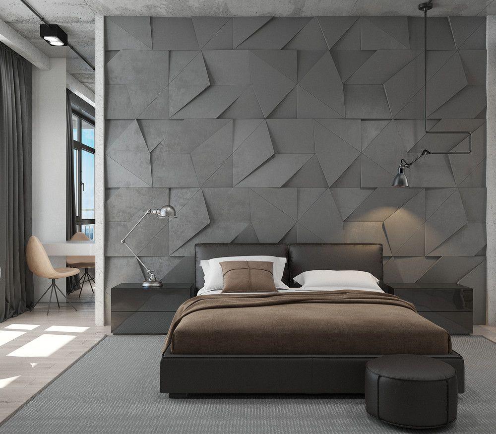 Bedroom Wall Decor 3d Bedroom Bed Arrangement Bedroom Decor For Christmas Bedroom Mezzanine: The Loft - 3D-проекты интерьеров в стиле лофт