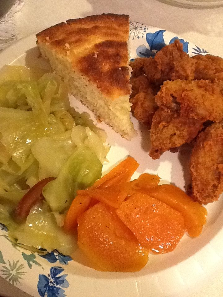 Soul food southern fried cabbage greens chicken wings soul food southern fried cabbage greens chicken wings candied yams sweet potatoes forumfinder Choice Image