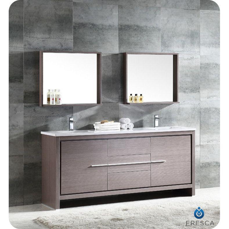Fresca Trieste Allier 48 Double Modern Sink Bathroom Vanity Set Simple 72 Inch Bathroom Vanity Double Sink