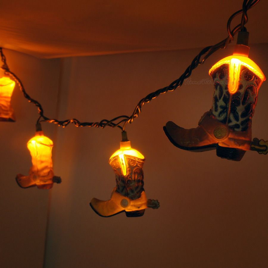 cowboy boot decorative string lights 14648 | f452275954d93795d05ee2efd65f6f70
