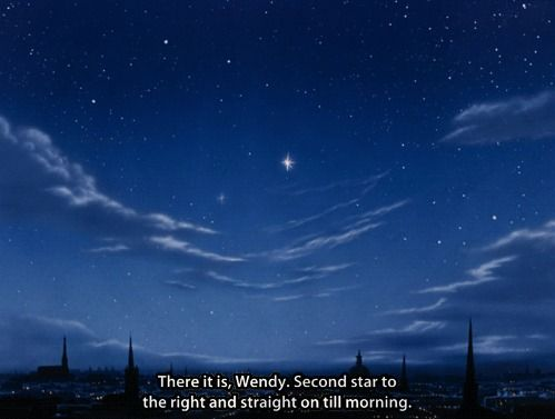 Peter Pan Scenery Tumblr Night Sky Peter Pan Neverland