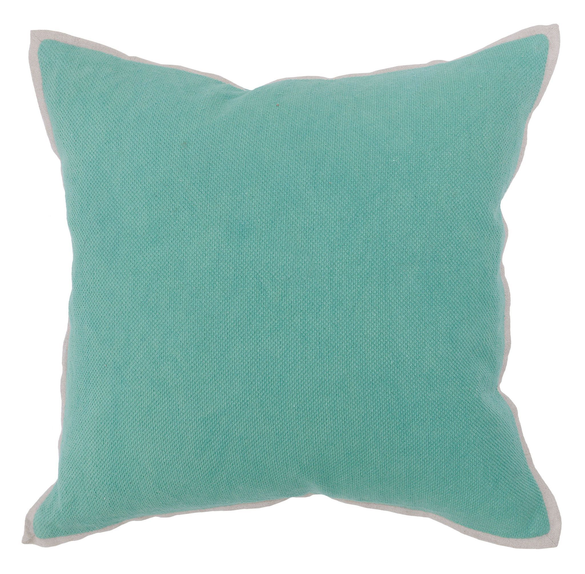 Rice Weave Pillow In Jungle Green Design By Villa Home