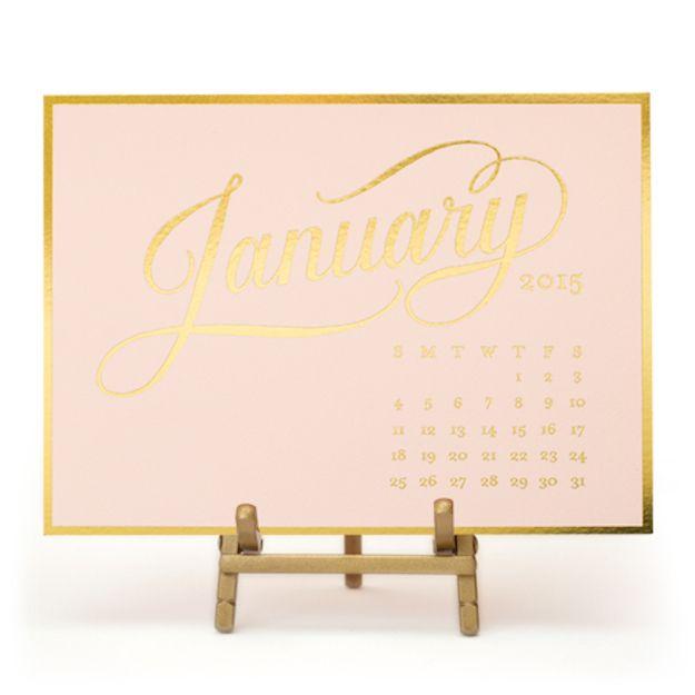 Sugar Paper Los Angeles 2015 Kate Desk Calendar Pale Pink U0026 Gold   New  Arrivals