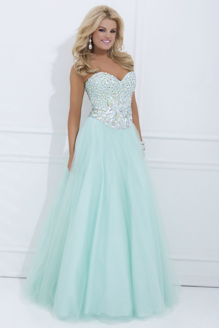 New Prom Dresses Sweetheart Floor Length With Shiny Rhinestone ...