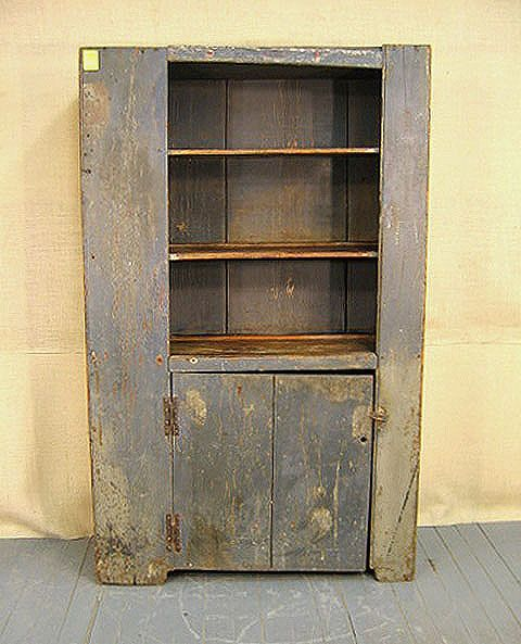 Best Early New England Wall Cupboard Canted Top Lot 1056 400 x 300