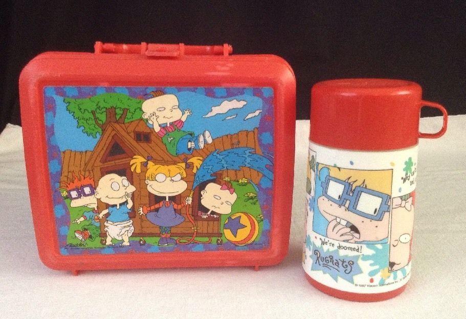 517790c624 Vintage Rugrats 1997 Aladdin Viacom Plastic Lunchbox & Thermos -NICE ...
