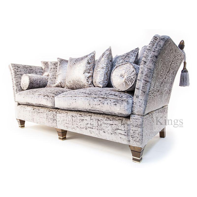 Terrific David Gundry Stunning Madrid Knole Sofa In A Soft Peach Inzonedesignstudio Interior Chair Design Inzonedesignstudiocom