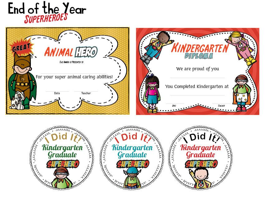 what to say at a preschool graduation end of the year superheroes bundle for kindergarten 266