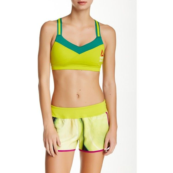 9450c896f576a Reebok Crisscross Two-Tone Sports Bra ( 25) ❤ liked on Polyvore featuring  activewear