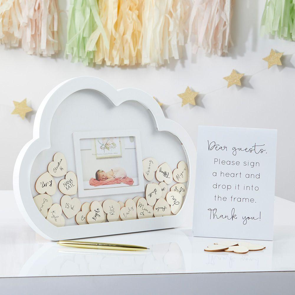 Baby Shower Guest Book Alternative - Cloud Frame