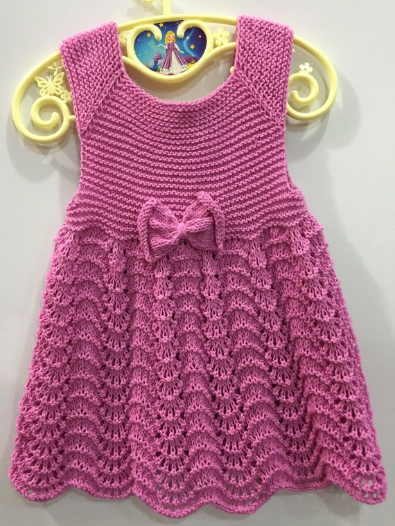 Handknit baby dress, Knitted baby clothes, Baby coton dress, Baby clothes, Knitting dress, Knitting baby dress, Baby girl clothes, Baby gift