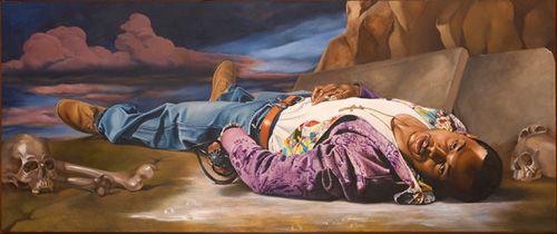 A Dead Soldier, 2007 Kehinde Wiley