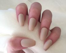 acrylic nails with simple designs on medium length coffin