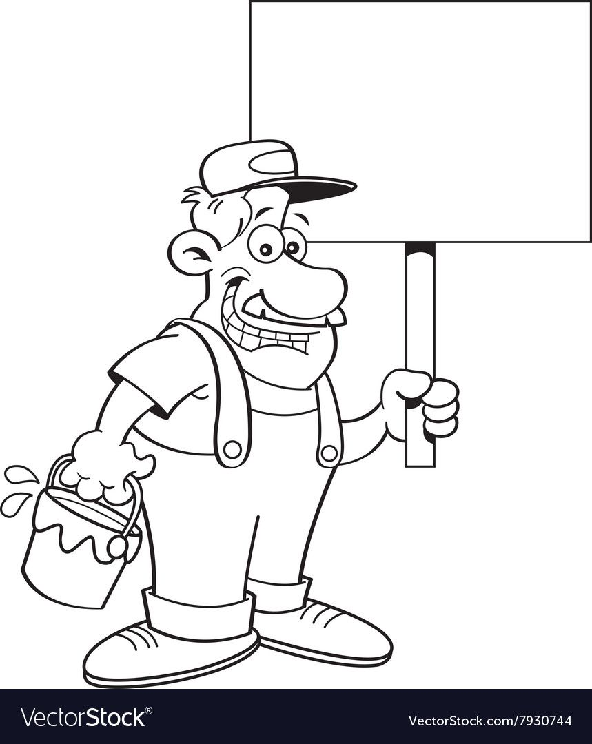 20+ Painter Clipart Black And White