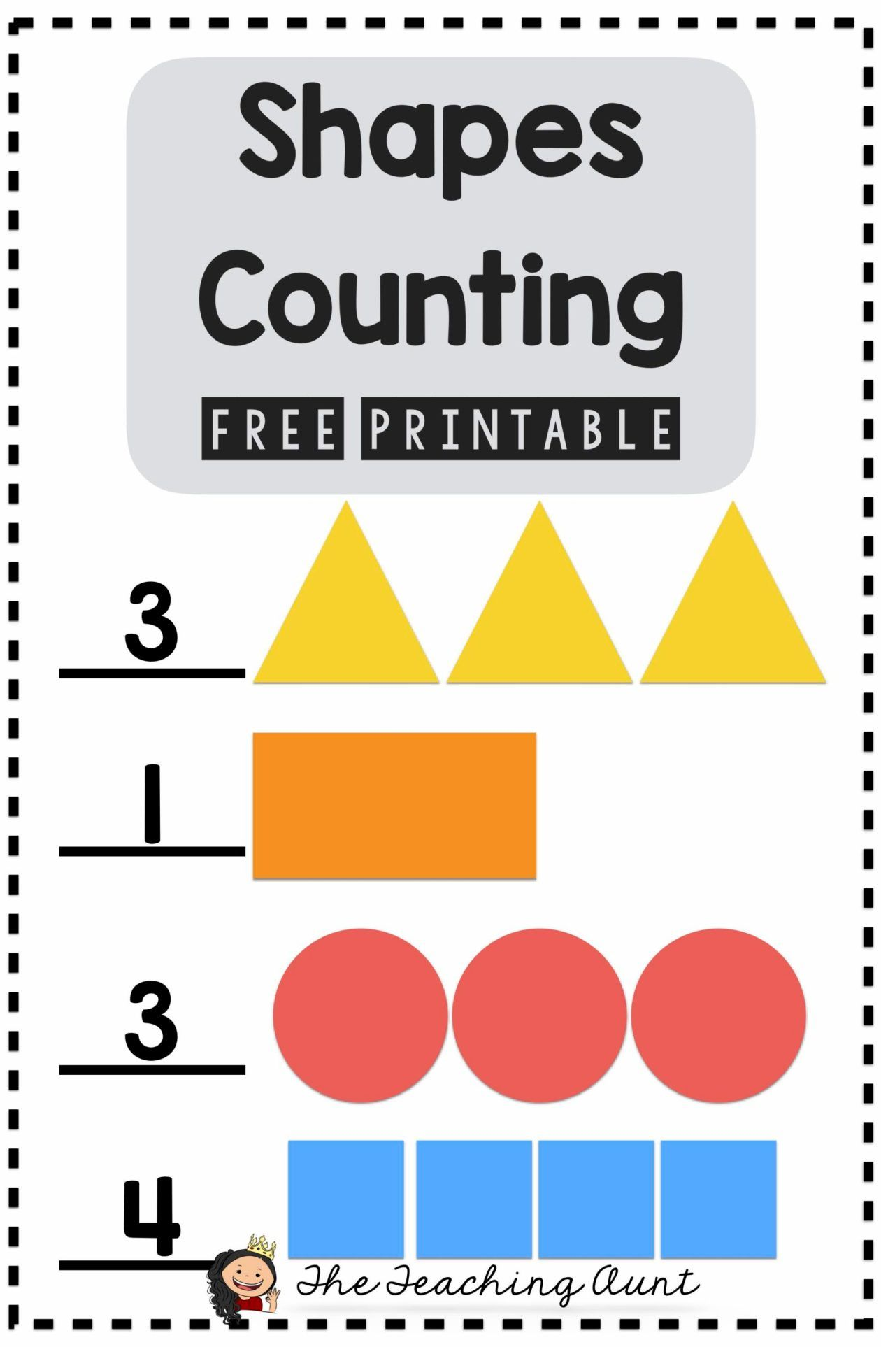 Counting Shapes Worksheets In