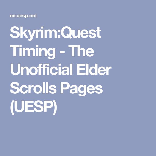 Unofficial elder scrolls pages skyrim