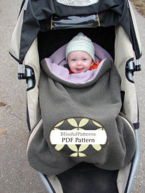 Bundle Bag PDF Sewing Pattern for Car Seat or Stroller