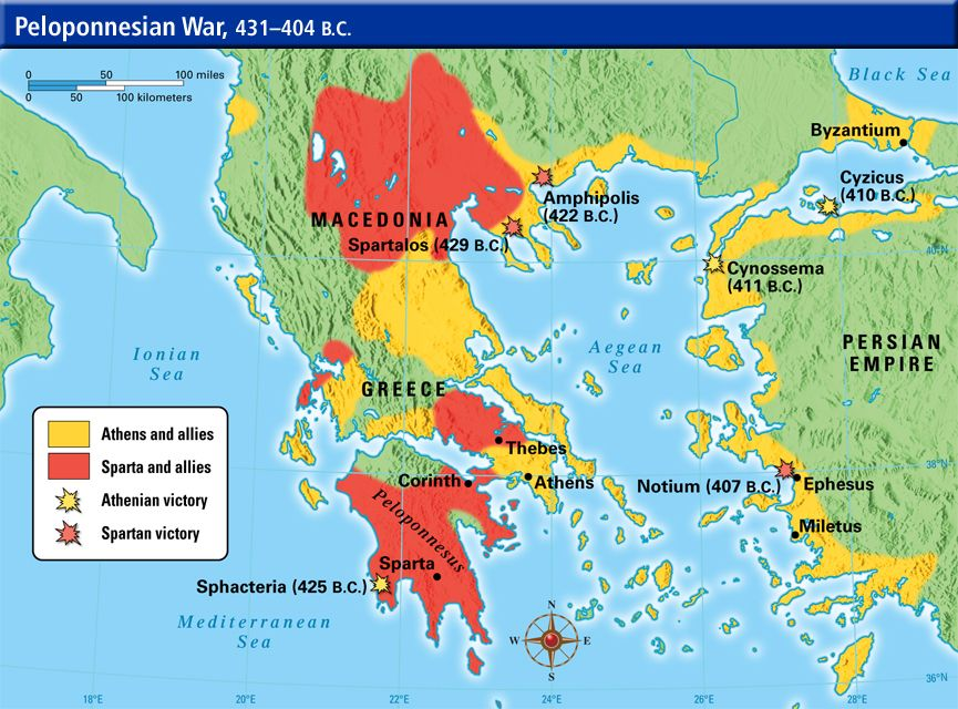 Image result for ThePeloponnesian War