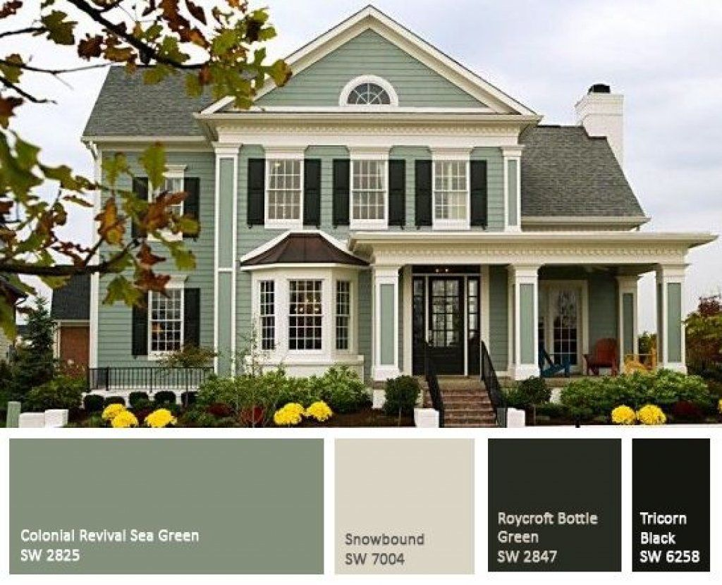 Attractive Exterior Paint Colors For Homes 5 Exterior Paint Combinations For Green Exterior House Colors Exterior Paint Colors For House House Paint Exterior