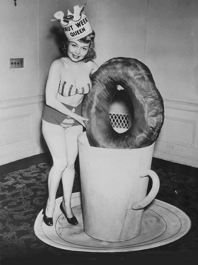 """If I was going to be in a beauty contest, I would head straight for Miss Donut. It would be the title of a lifetime - Miss """"Cruller""""."""