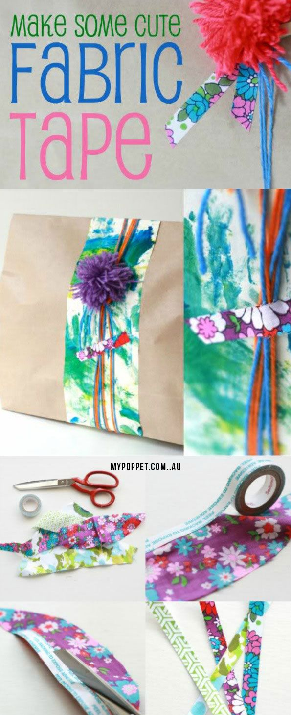 How To: Handmade Fabric Deco Tape | My Poppet Makes #fabrictape