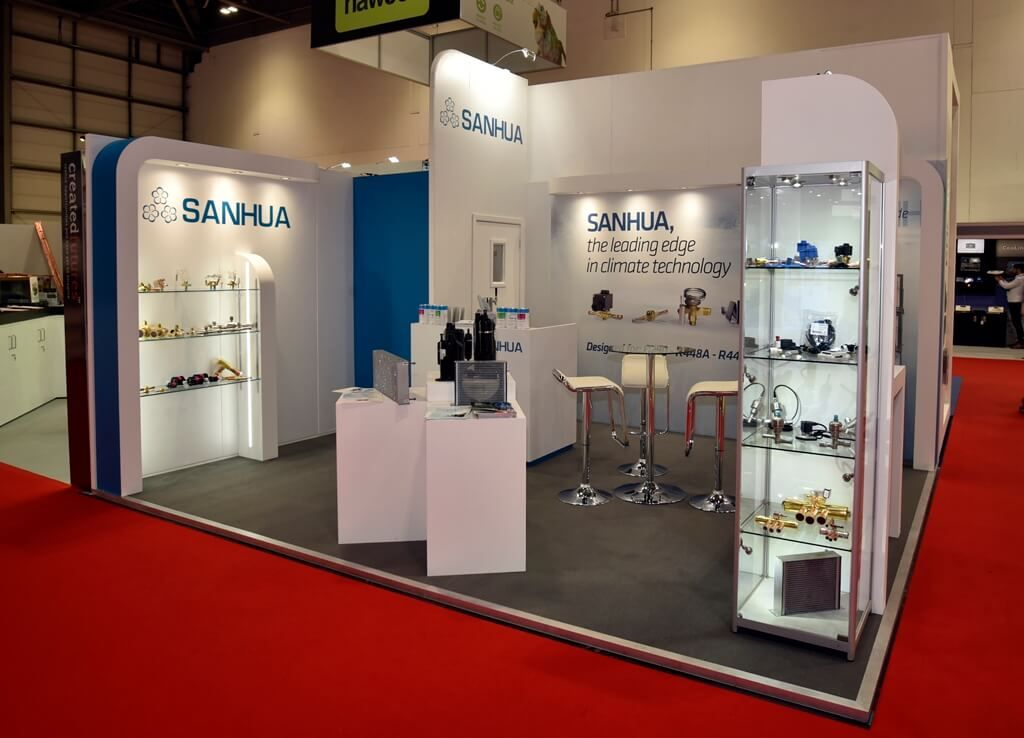 Exhibition Stand With Shelves : Hvac exhibition stand sanhua m m exhibition stands booth