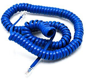 Curly telephone handset cord