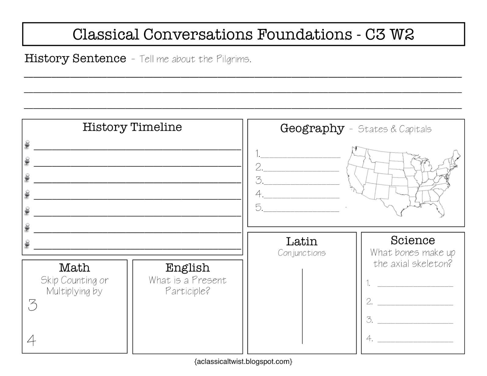 Blank Weekly Review Sheets For Classical Conversations