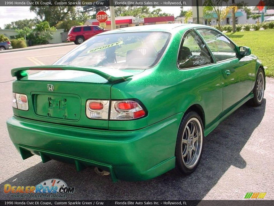 Custom Civic 1996 Honda Civic Ex Coupe Custom Sparkle Green Gray Photo 5 Honda Civic Ex Honda Civic Honda