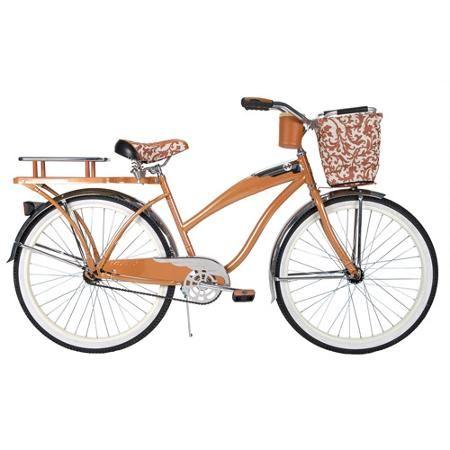 26 Huffy Champion Women S Cruiser Bike Butterscotch Large Basket