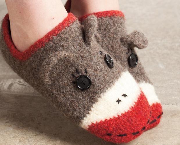 da336f6dfcd Crocheted   felted Sock Monkey Slippers - Knitting Patterns and Crochet  Patterns from KnitPicks.com  3.99