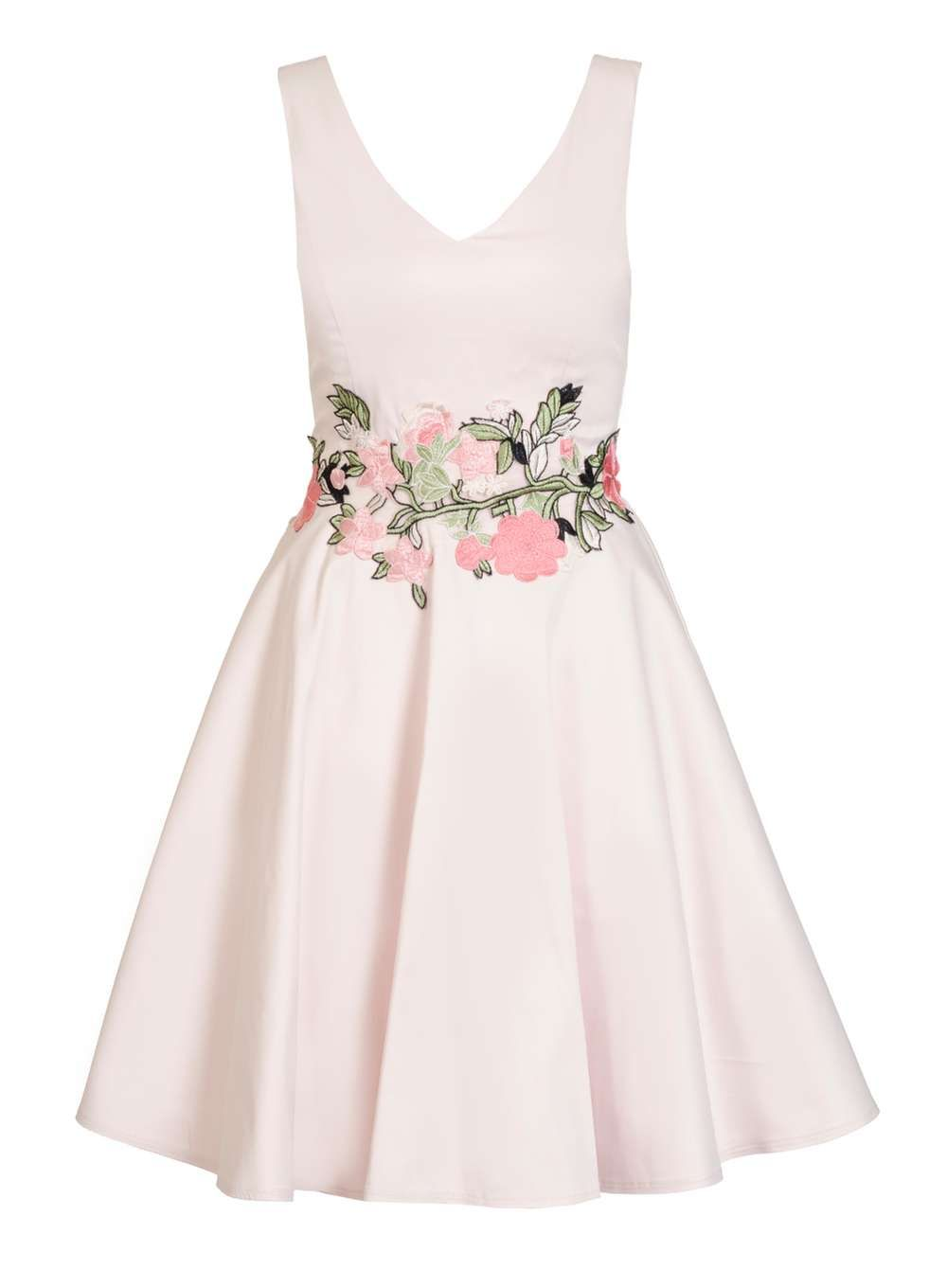 Quiz Pale Pink Floral Skater Dress - View All New In - New In ...
