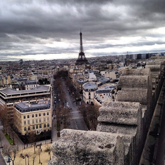 From the top of the Arc de Triomphe. Photo by  lizicook.