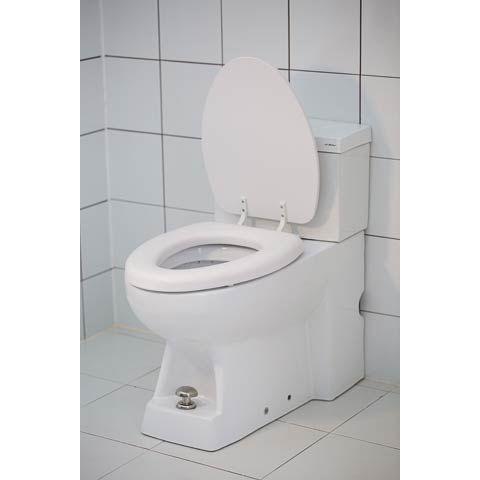 Saco Everything For Everyone مقعد حمام ناعم أبيض مقاعد المرحاض أدوات السباكة تطوير المنزل Saco Everything For Everyone Toilet Home Improvement Home