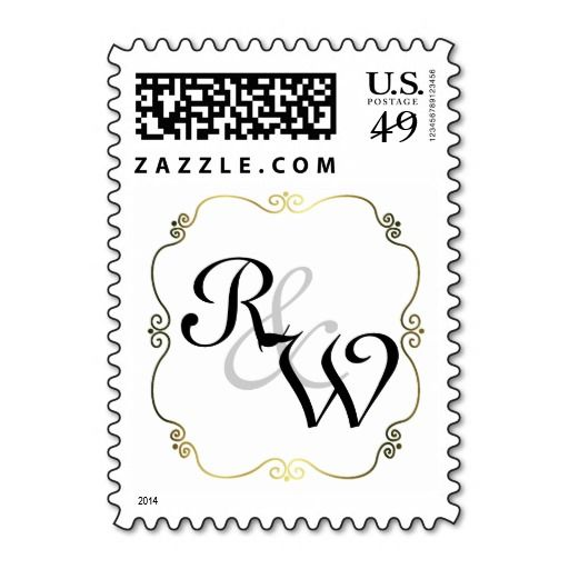 Classic Custom Monogram Wedding Stamp   Zazzle com   Great