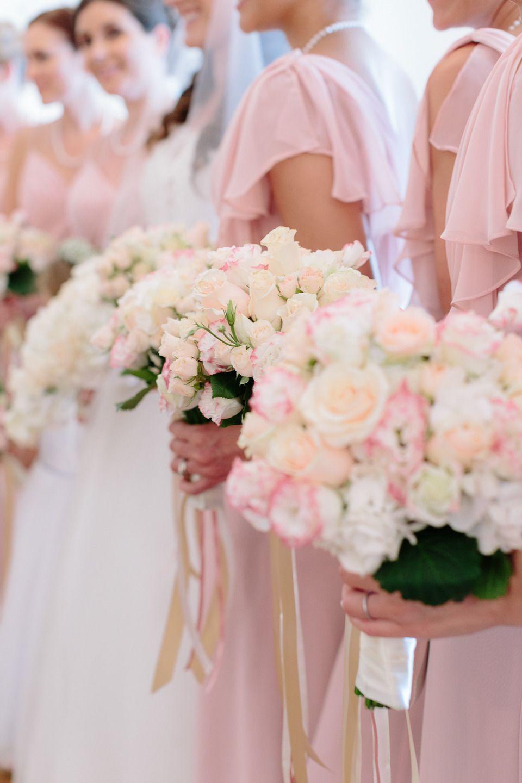 Pastel pink bridesmaid dress  Lavish Sicilian Destination Wedding  French Read more and Pink