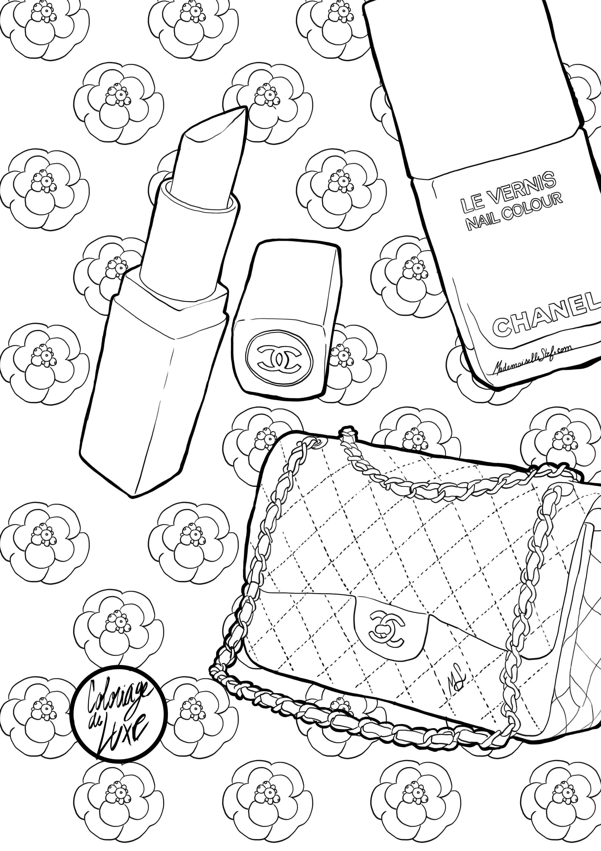 Coloriage Zen Adulte Chanel Chic Glamour