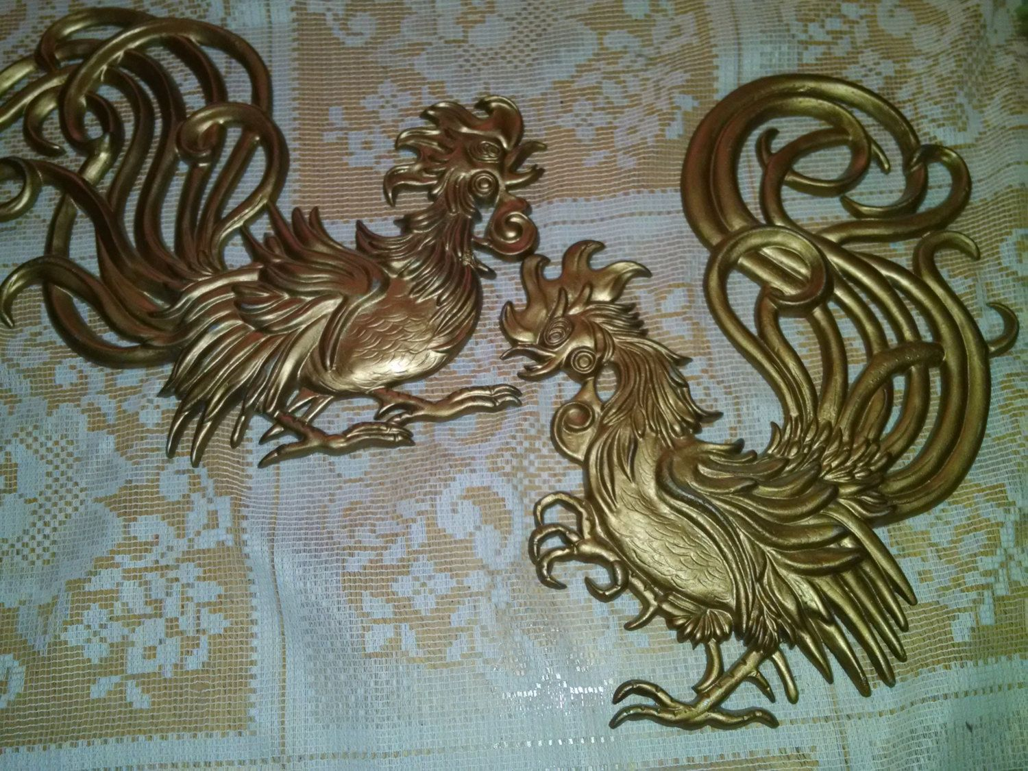 Roosters Wall Hanging Metal Rooster Rooster Fighting Rooster