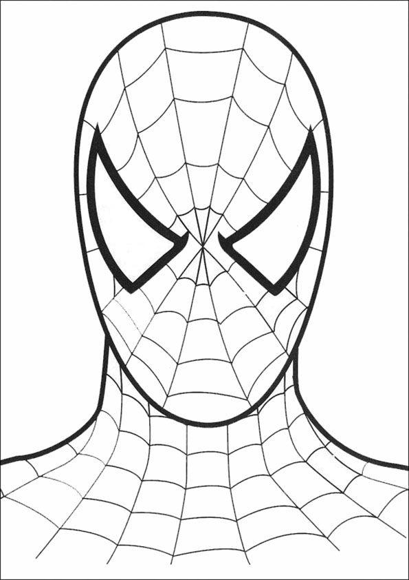 Ausmalbilder Ninjago Gesicht: Spiderman Coloring, Superhero