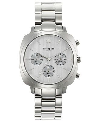 kate spade new york Watch, Women's Chronograph Brookyn Stainless Steel Bracelet 38mm 1YRU0099 - All Watches - Jewelry & Watches - Macy's