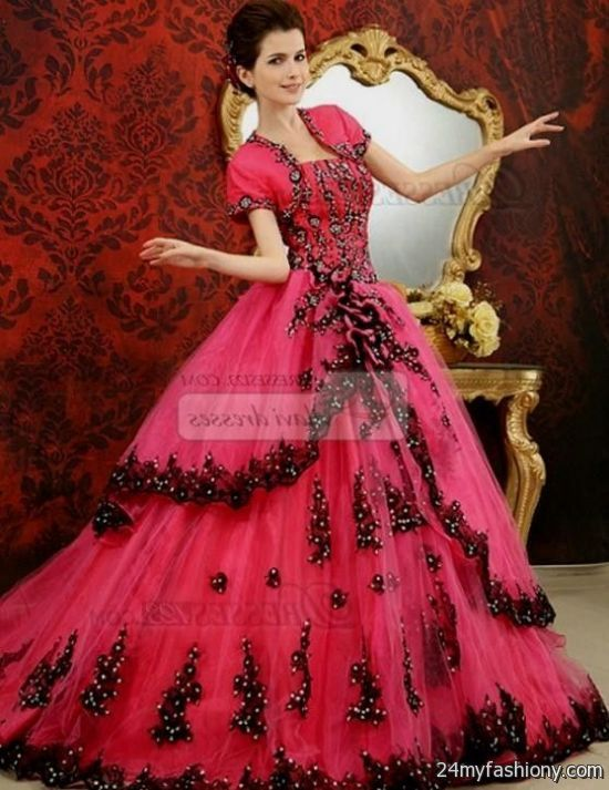 Cool Red ball gowns with sleeves 2017-2018 Check more at http://24myfashion.com/2016/red-ball-gowns-with-sleeves-2016-2017/