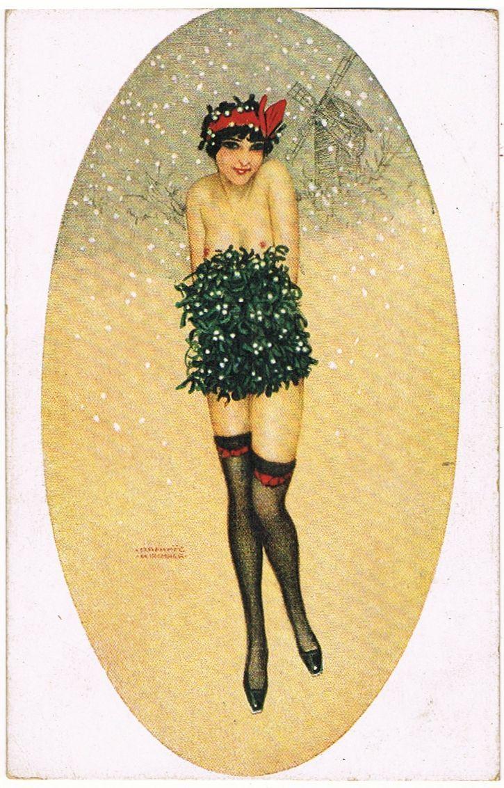 kirchner art nouveau artist | Raphael Kirchner Art Deco Christmas ...