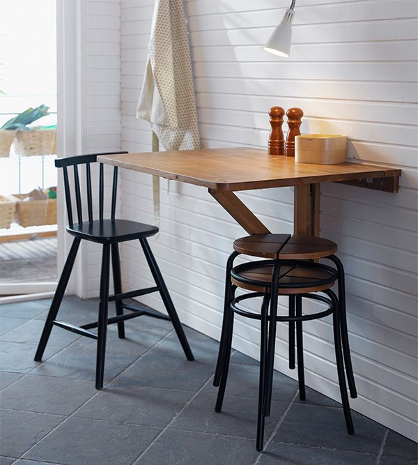 Ikea Kitchen Table Bench: AGAM Junior Chair, Black