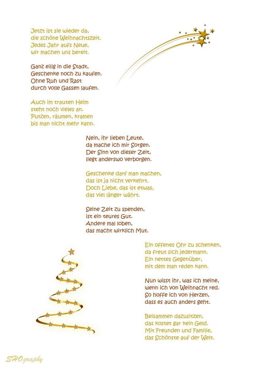 Gedicht Weihnachten Besinnlich Xmas Ideen Gedicht Weihnachten Gedicht Weihnachten Besinnlich Weihnachtsspruche