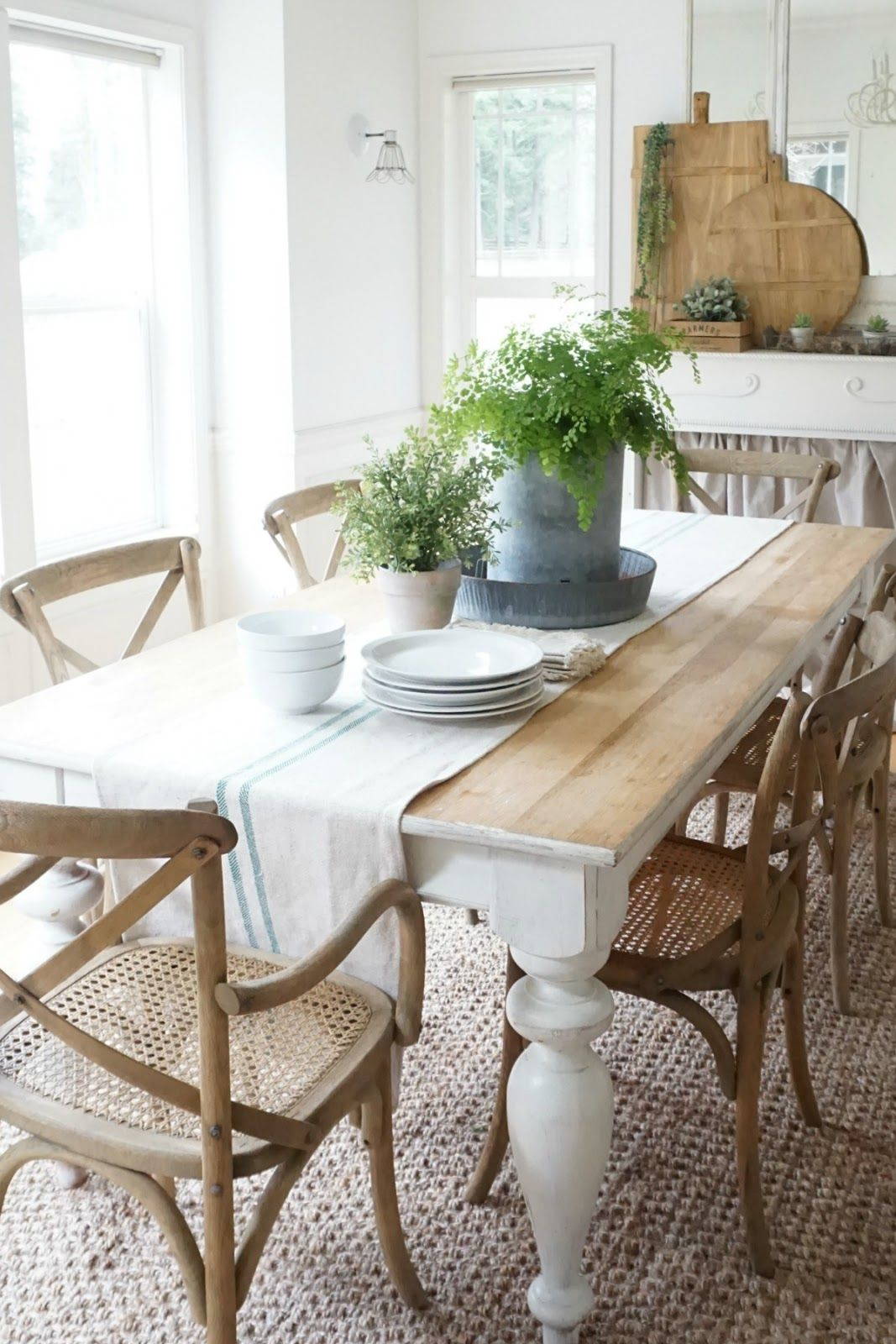 A Blog About Farmhouse Style Design Country Living Home Decorating Family And Pa Farmhouse Dining Rooms Decor Farmhouse Style Dining Room Rustic Dining Room