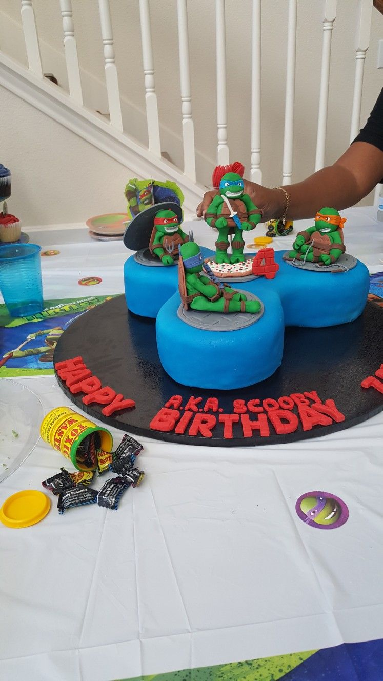 Ninja Turtle fidget spinner birthday cake | Nailed It! | Cake ...