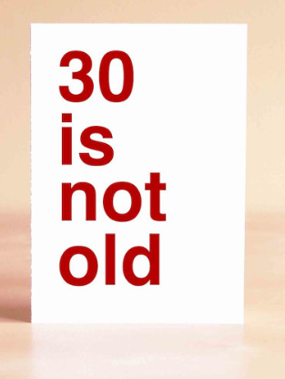 30th Birthday Gift Ideas For Him Her 30 Is Not Old Funny Card By Sad Shop Etsy